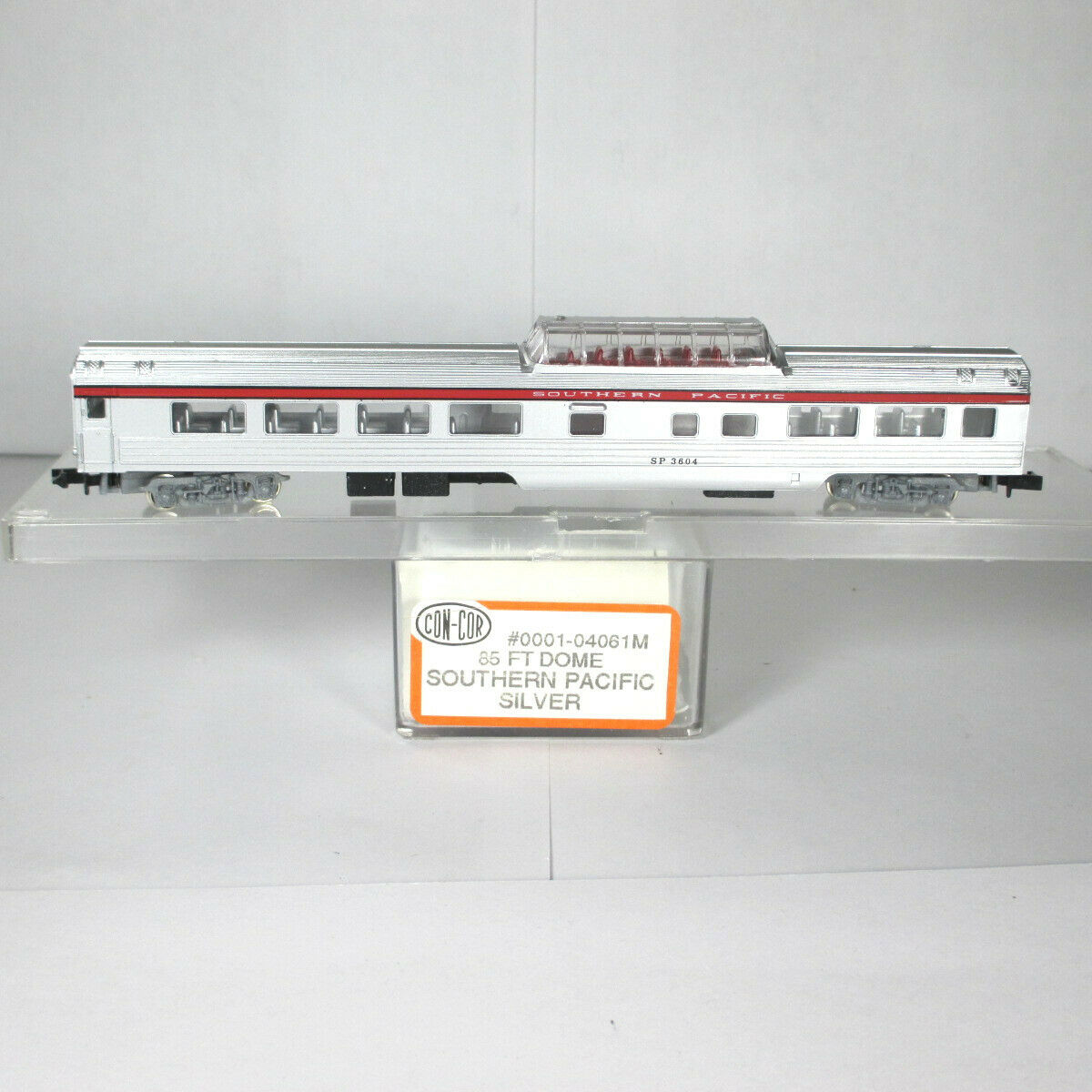 N Scale - Con-Cor - 0001-04061M - Passenger Car, Lightweight, Corrugated Mid-Train Dome - Southern Pacific - 3604