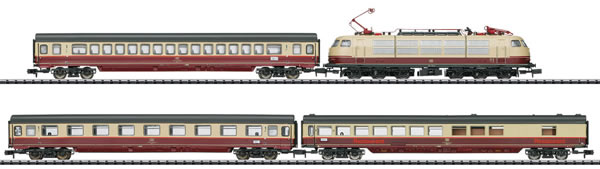 N Scale - Minitrix - 11628 - Passenger Train, Electric, Europe, Epoch IV - Deutsche Bahn - 4-Pack