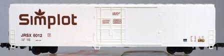 N Scale - Walthers - 932-8002 - Reefer, 76 Foot, Steel, Cryogenic - Simplot - 6043