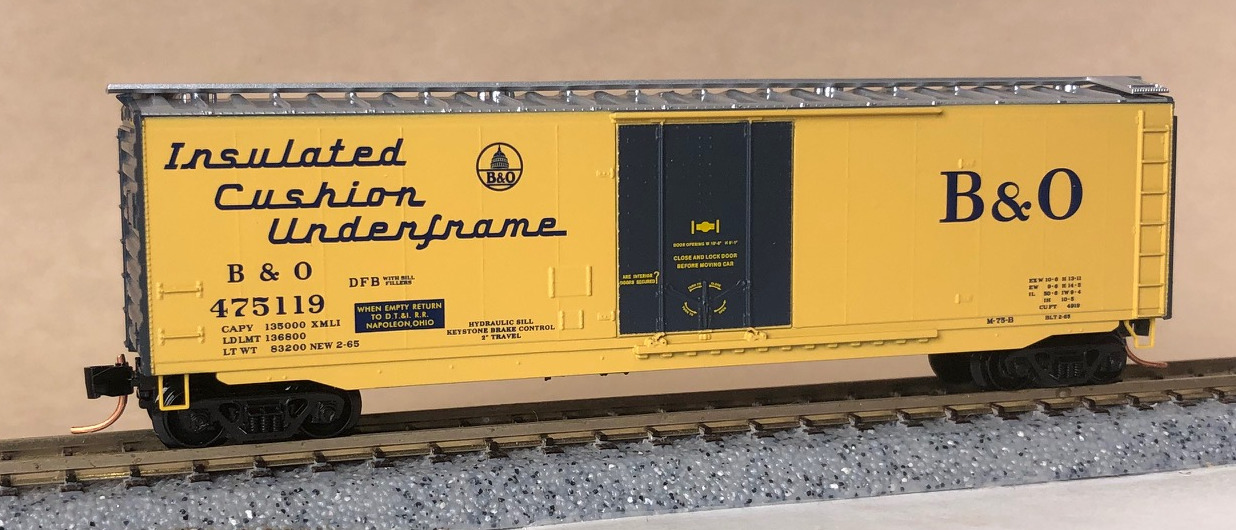 N Scale - Micro-Trains - NSC 04-12 - Boxcar, 50 Foot, Steel, Plug Door - Baltimore & Ohio - 475119