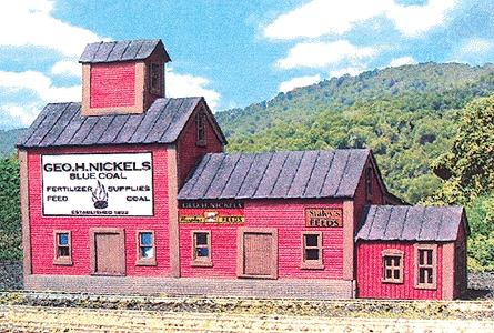 N Scale - Laser-Art - 892 - Feed Mill - Industrial Structures - Nickel