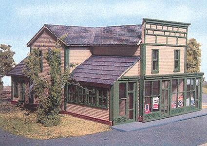 N Scale - Laser-Art - 843 - General Store - Commercial Structures - Roscoe Store