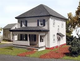 N Scale - Laser-Art - 821 - House - Residential Structures - Albion House