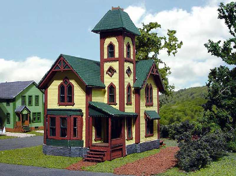 N Scale - Laser-Art - 801 - House - Residential Structures - Tower House