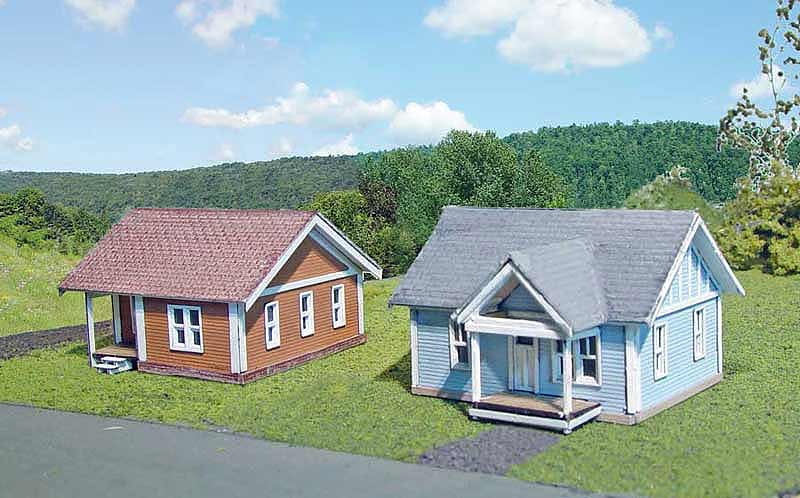 N Scale - Laser-Art - 819 - House - Residential Structures - Thelma & Stanley Houses