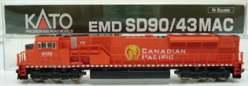 N Scale - Kato USA - 176-5603 - Locomotive, Diesel, EMD SD90MAC - Canadian Pacific - 9122