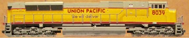 N Scale - Kato USA - 176-5609 - Locomotive, Diesel, EMD SD90MAC - Union Pacific - 8039