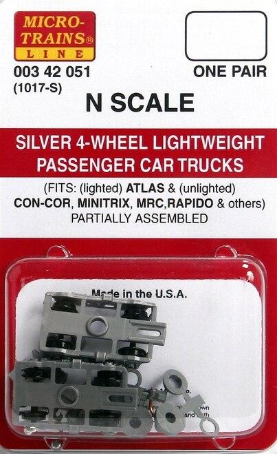 N Scale - Micro-Trains - 1017-S - Bogies - Lightweight