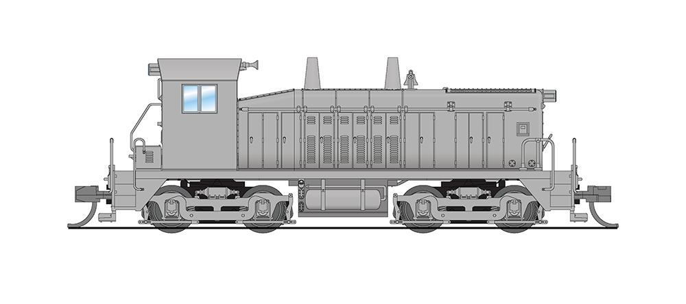 N Scale - Broadway Limited - 3872 - Locomotive, Diesel, EMD NW2 - Undecorated