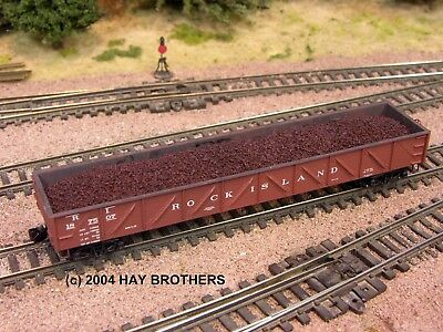 N Scale - Hay Bros - 2001-10 - Load - Painted/Unlettered - VOLCANIC CINDERS