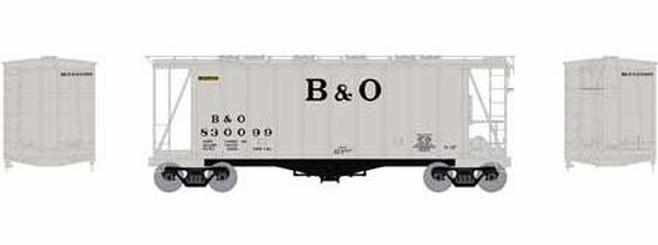 N Scale - Athearn - 23167 - Covered Hopper, 2-Bay, GATX Airslide 2600 - Baltimore & Ohio - 830099