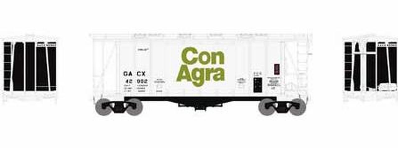 N Scale - Athearn - 23171 - Covered Hopper, 2-Bay, GATX Airslide 2600 - ConAgra Foods - 44789