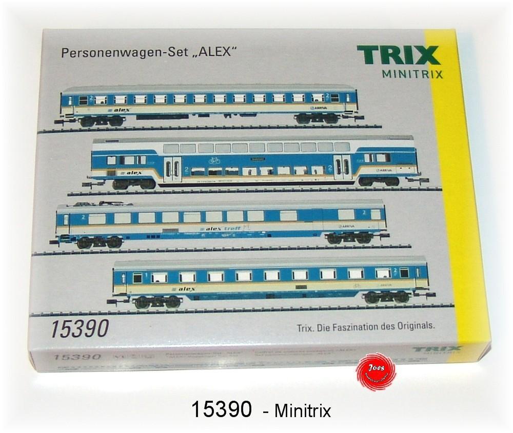 N Scale - Minitrix - 15390 - Passenger Car, DB, Epoch V - Deutsche Bahn - 4-Pack