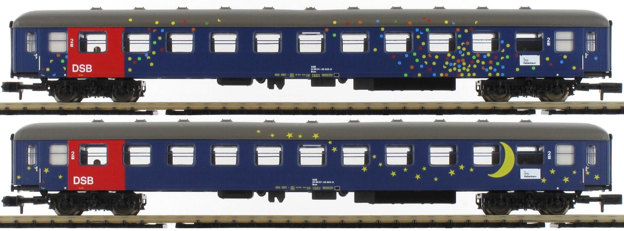 N Scale - Minitrix - 15480 - Various - Danish State Railways (DSB) - 2-Pack