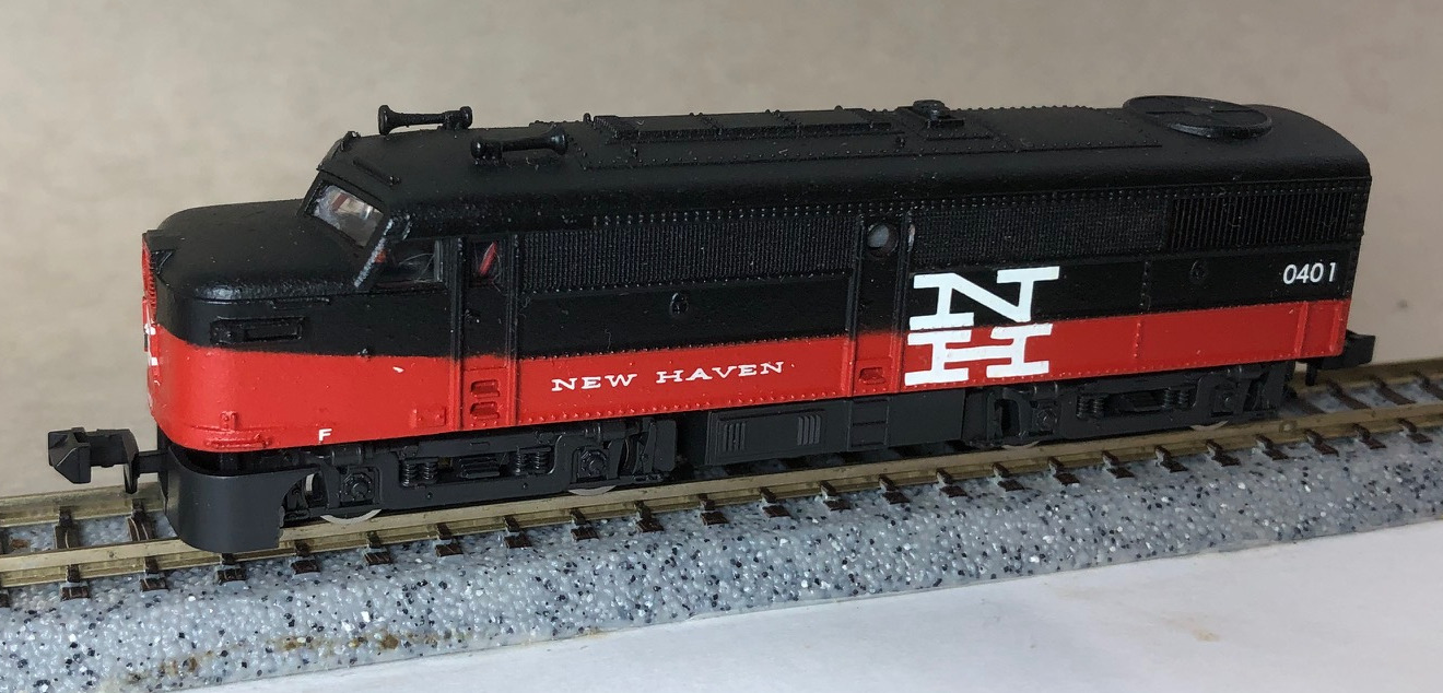 N Scale - Concord Car Shops - 0402 - Locomotive, Diesel, Alco FA/FB - New Haven - 0401