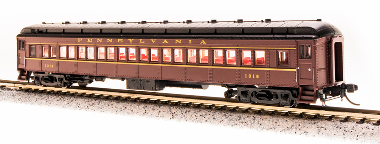 N Scale - Broadway Limited - 3770 - Passenger Car, Heavyweight, Pennsy P70 Coach - Pennsylvania - 1032