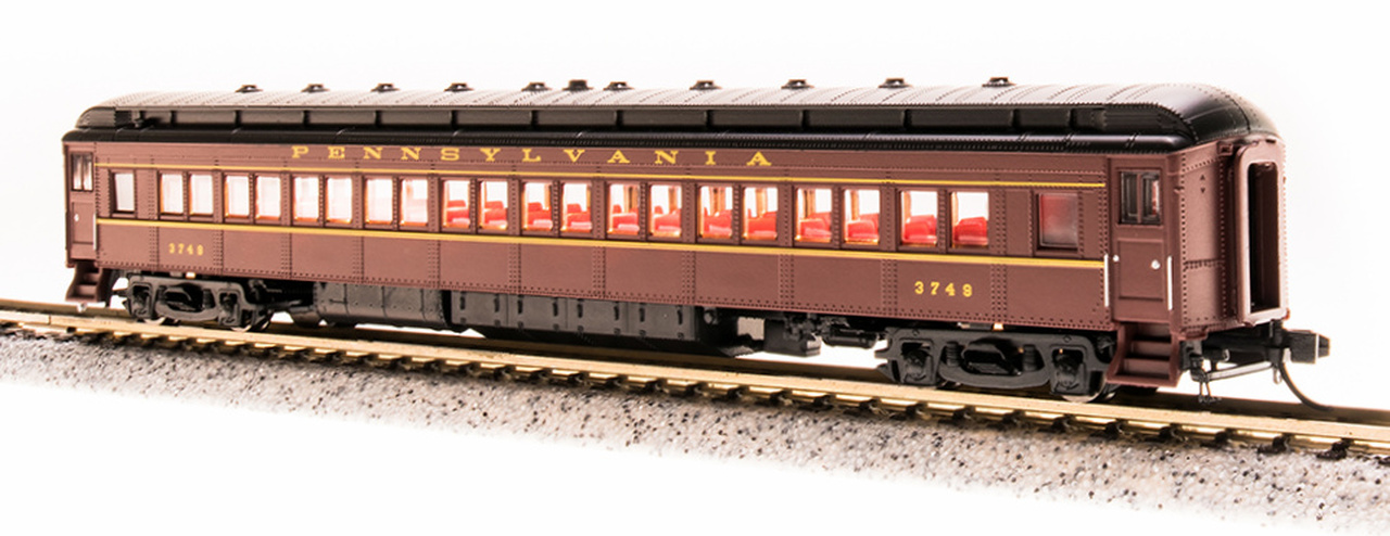 N Scale - Broadway Limited - 3765 - Passenger Car, Heavyweight, Pennsy P70 Coach - Pennsylvania - 3751