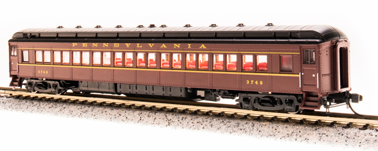 N Scale - Broadway Limited - 3764 - Passenger Car, Heavyweight, Pennsy P70 Coach - Pennsylvania - 3477