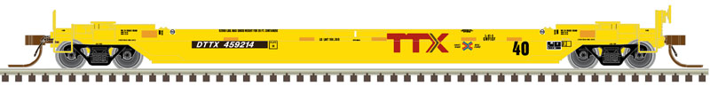 N Scale - Atlas - 50 005 298 - Container Car, Single Well, Gunderson TwinStack - Trailer Train - 59175