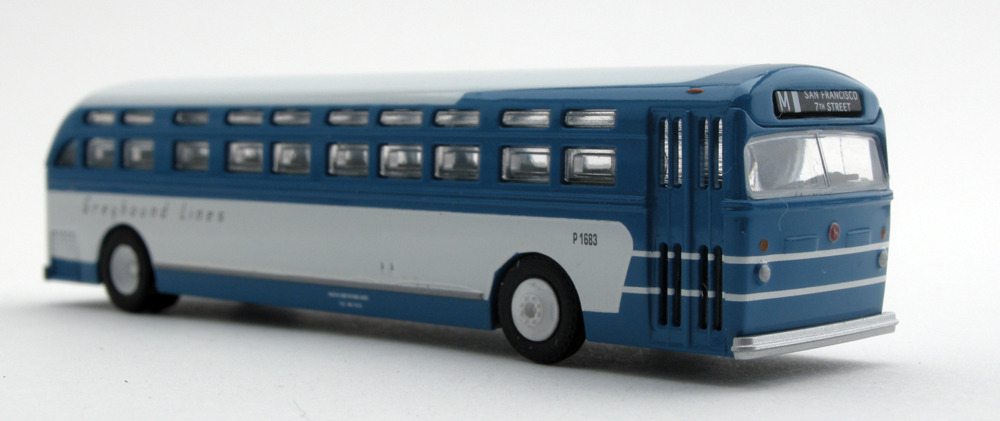 N Scale - Wheels of Time - 90301 - Bus, GM Old Look - Greyhound Lines - P1690
