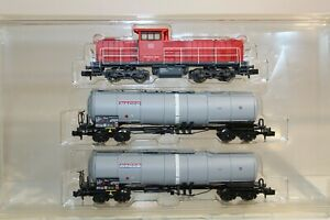 N Scale - Minitrix - 11135 - Mixed Freight Consist, Europe Epoch VI - DB Schenker - 3-Unit Starter Set