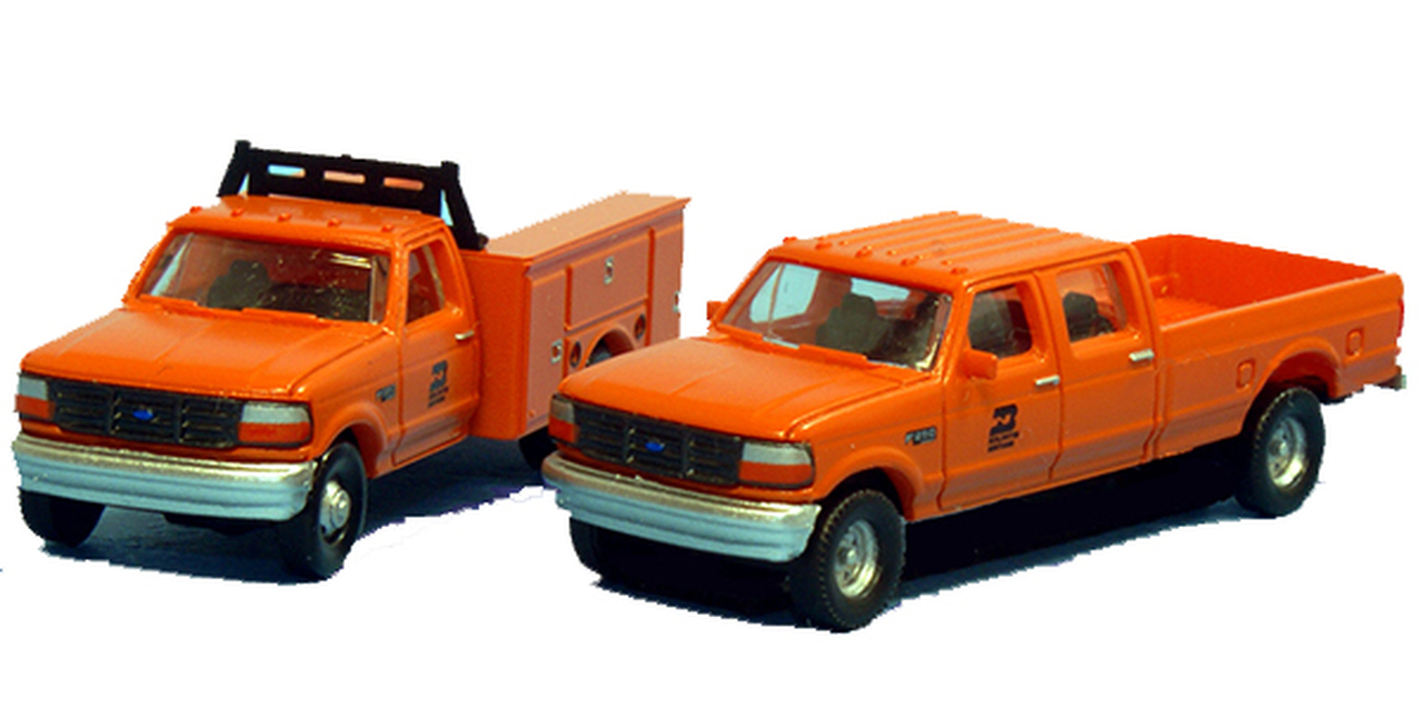 N Scale - River Point - N38-3JL9.G6 - Truck, Ford F-Series - Burlington Northern - 2-Pack