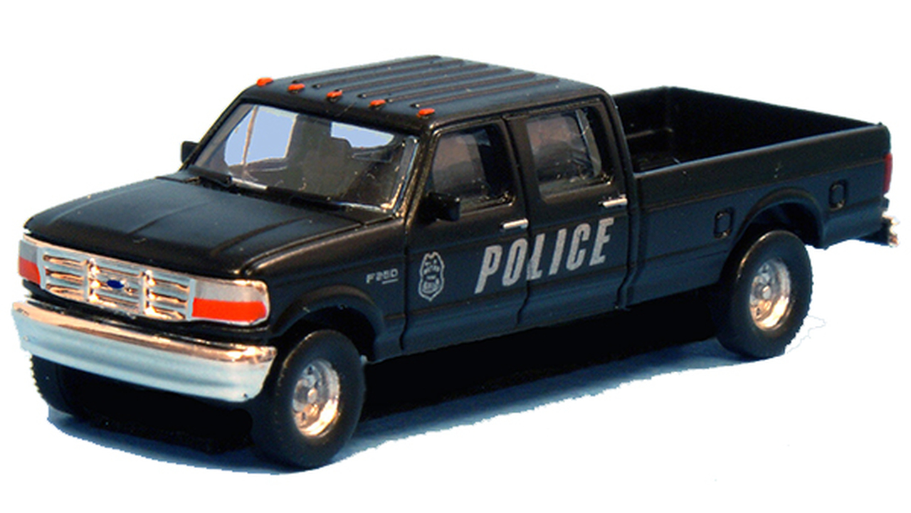 N Scale - River Point - N36-L657.17 - Truck, Ford F-Series - Police Dept - 2-Pack