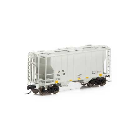 N Scale - Athearn - 16327 - Covered Hopper, 2-Bay, PS2 - Rio Grande Chemicals - 38010