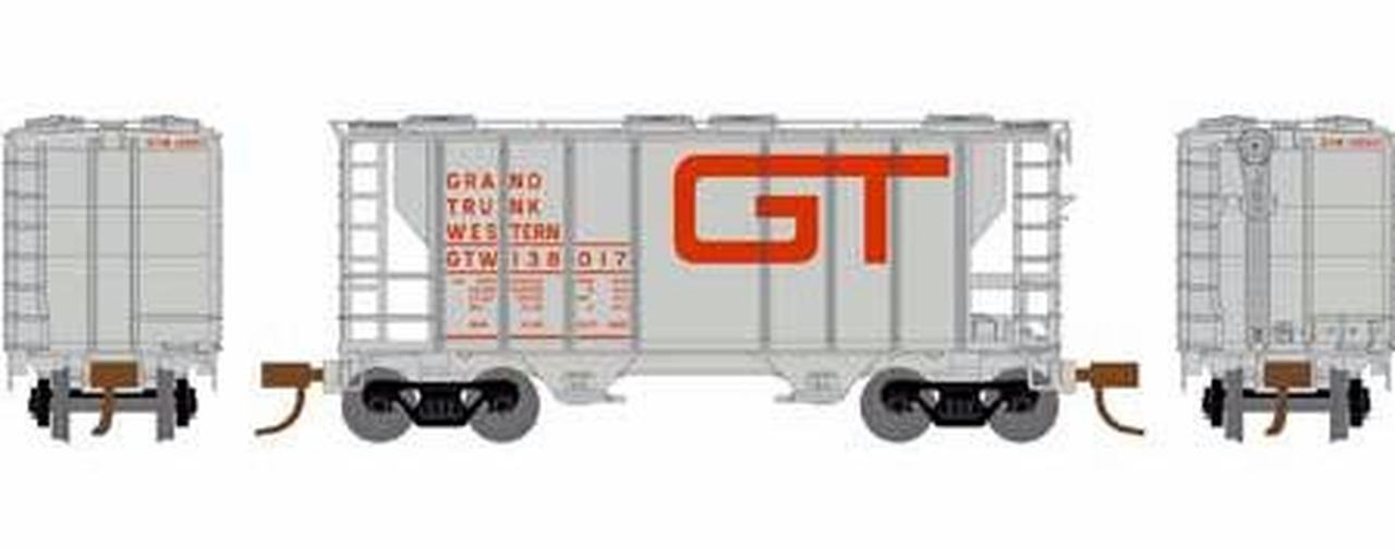 N Scale - Athearn - 16319 - Covered Hopper, 2-Bay, PS2 - Grand Trunk Western - 138045
