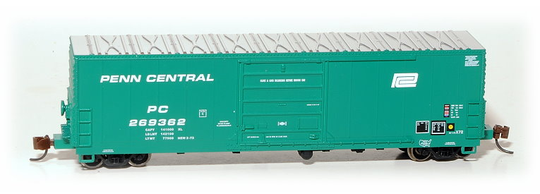 N Scale - Eastern Seaboard Models - 228102 - Boxcar, 50 Foot, X72 - Penn Central - 269362