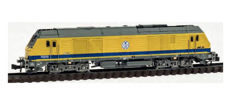 N Scale - REE Modèles - NW-105 - Locomotive, Diesel, Alstom Prima - Travaux du Sud-Ouest - 75019