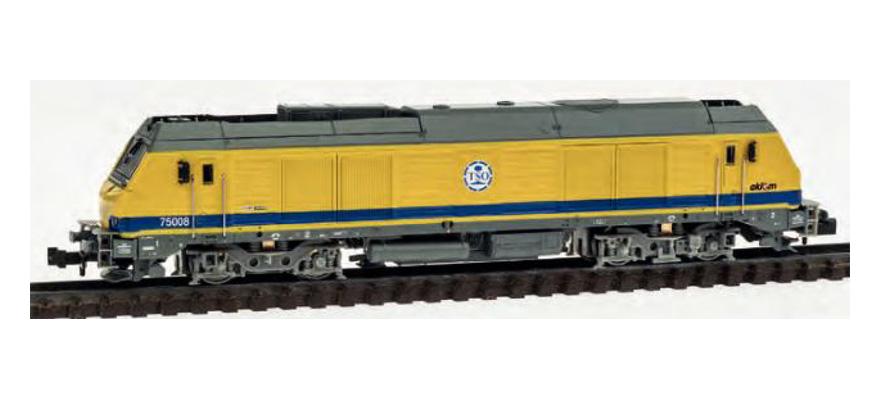 N Scale - REE Modèles - NW-104 - Locomotive, Diesel, Alstom Prima - Travaux du Sud-Ouest - 75008