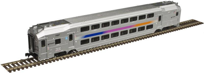 N Scale - Atlas - 40 004 045 - Passenger Car, Commuter, Bombardier Multi-Level - New Jersey Transit - 7019