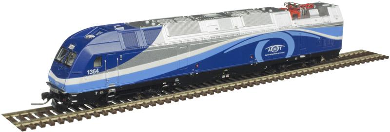 N Scale - Atlas -  40 004 229 - Locomotive, Dual-Mode, ALP-45DP - AMT (Agence Métropolitaine de Transport) - 1355