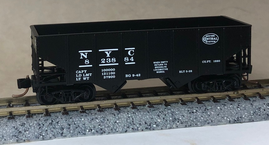 N Scale - Micro-Trains - NSC 00-09 - Open Hopper, 2-Bay, USRA 55 Ton - New York Central - 823884