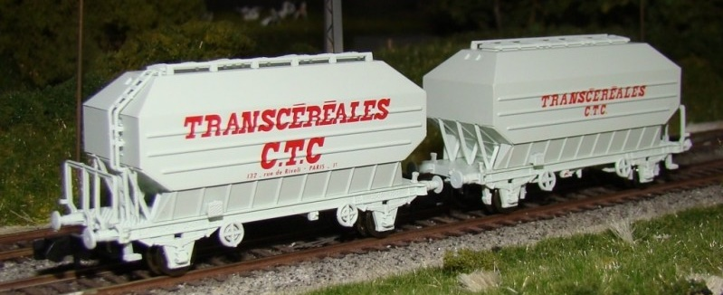 N Scale - N160 - NC24003 - Covered Hopper, 2-Axle, Cereal - SNCF - 2-pack