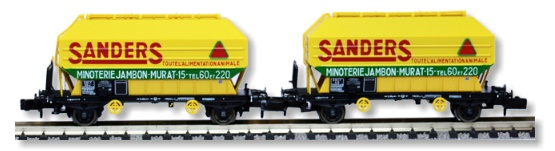 N Scale - N160 - NC24005 - Covered Hopper, 2-Axle, Cereal - SNCF - 2-pack