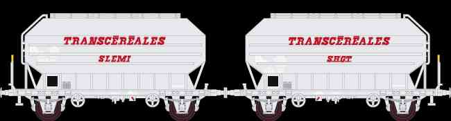 N Scale - N160 - NC24009 - Covered Hopper, 2-Axle, Cereal - SNCF - 2-pack