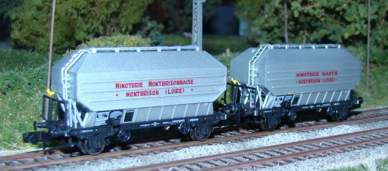 N Scale - N160 - NC24010 - Covered Hopper, 2-Axle, Cereal - SNCF - 2-pack