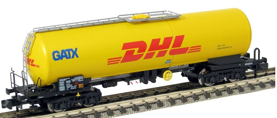 N Scale - Arnold Hornby - HN6291 - Tank Car, Single Dome, Zas - GATX Rail Europe - 33 80 7837 691-4