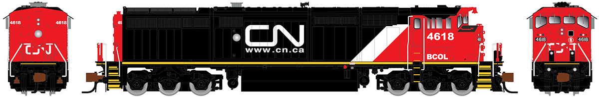 N Scale - Rapido Trains - 540027 - Locomotive, Diesel, GE Dash 8 - British Columbia - 4618