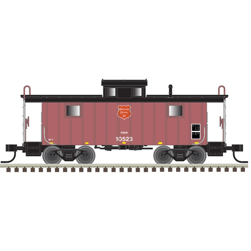N Scale - Atlas -  50 005 348   - Caboose, Cupola, Steel, NE - Wisconsin Central - 10523