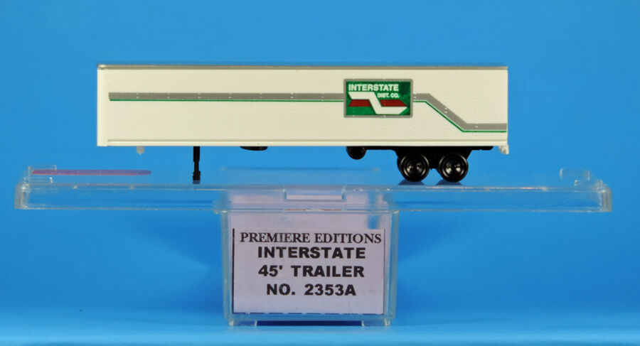 N Scale - The Freight Yard - 2353A - Trailer, Semi, Box Van, 24 Foot - Interstate Distribution