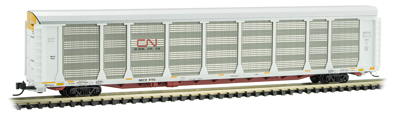 N Scale - Micro-Trains - 111 00 340 - Autorack, Enclosed, Tri-Level - Canadian National - 9193