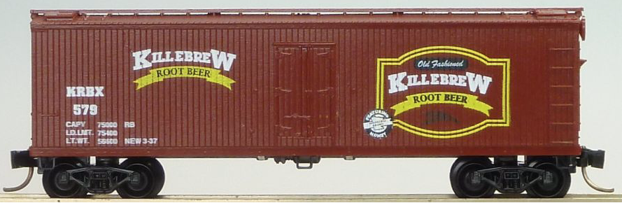 N Scale - The Freight Yard - 9860B - Boxcar, 40 Foot, Double Wood Sheathed - Killebrew Root Beer - 583