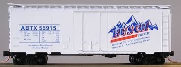 N Scale - The Freight Yard - 2233B - Boxcar, 40 Foot, Steel Plug Door - Anheuser Busch - 55915