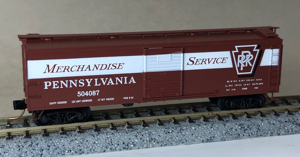 N Scale - Micro-Trains - NSC 01-11 - Boxcar, 40 Foot, USRA Steel Rebuilt - Pennsylvania - 504087