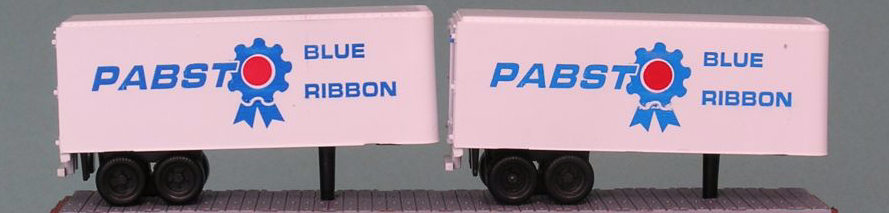 N Scale - The Freight Yard - 2125B - Trailer, 24 Foot, Box - Pabst Milwaukee - 2-Pack