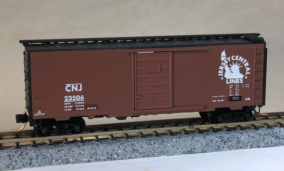 N Scale - Micro-Trains - NSC 06-72 - Boxcar, 40 Foot, PS-1 - Jersey Central - 23506