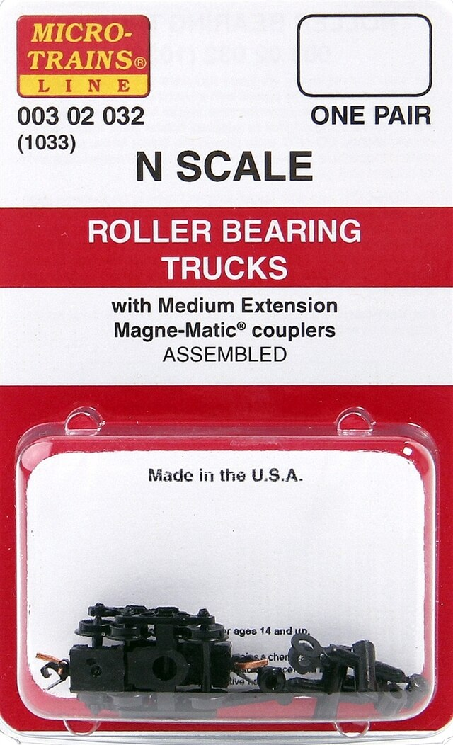 N Scale - Micro-Trains - 1033 - Bogies - Barber